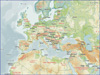 WMS Position - Maps background examples | Europe – General overview map