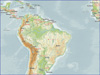 WMS Position - Maps background examples | South America – General overview map